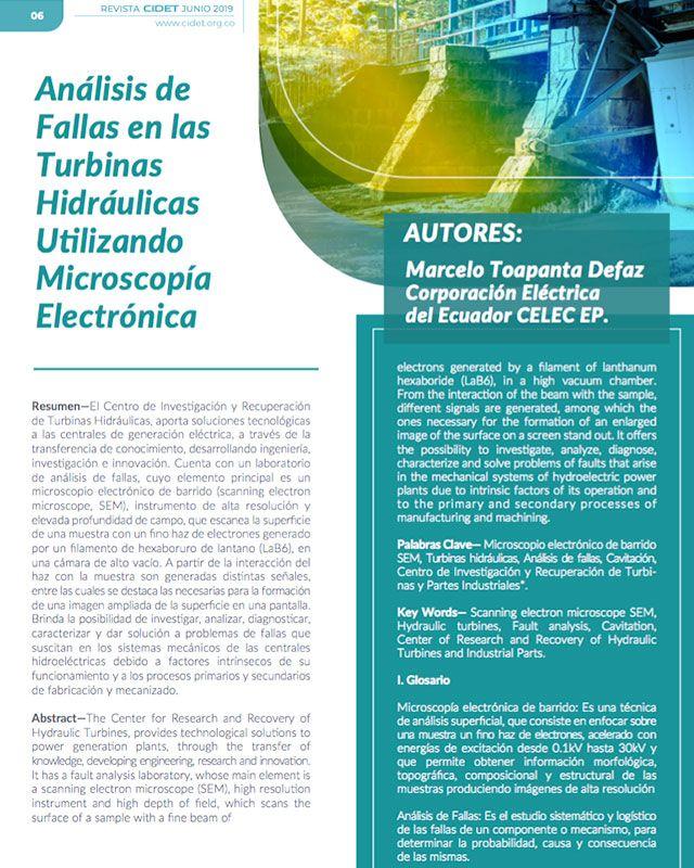 ANÁLISIS DE FALLAS EN LAS TURBINAS UTILIZANDO MICROSCOPÍA ELECTRÓNICA