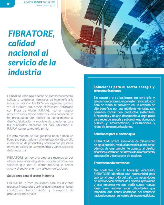 FIBRATORE, CALIDAD NACIONAL AL SERVICIO DE LA INDUSTRIA
