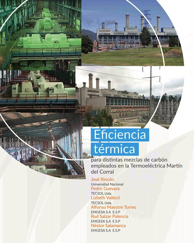 Eficiencia térmica para distintas mezclas de carbón empleados en la termo eléctrica Martín del Corral