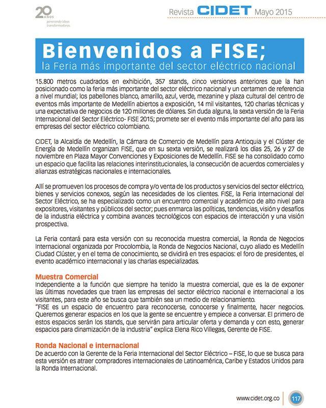 Bienvenidos a FISE; la Feria más importante del sector eléctrico nacional