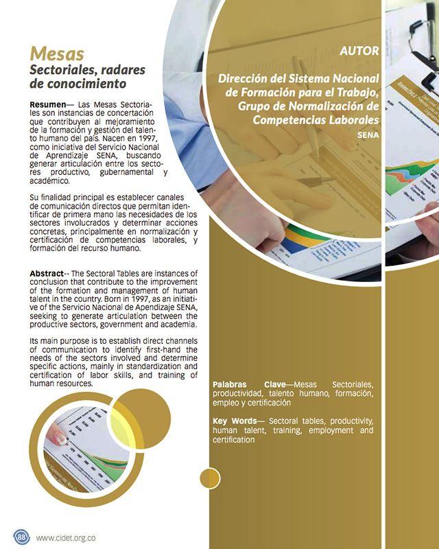 Mesas Sectoriales, radares de conocimiento