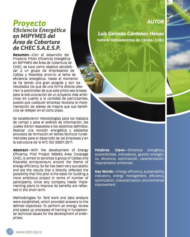 Proyecto Eficiencia Energética en MIPYMES del Área de Cobertura de CHEC S.A.E.S.P.