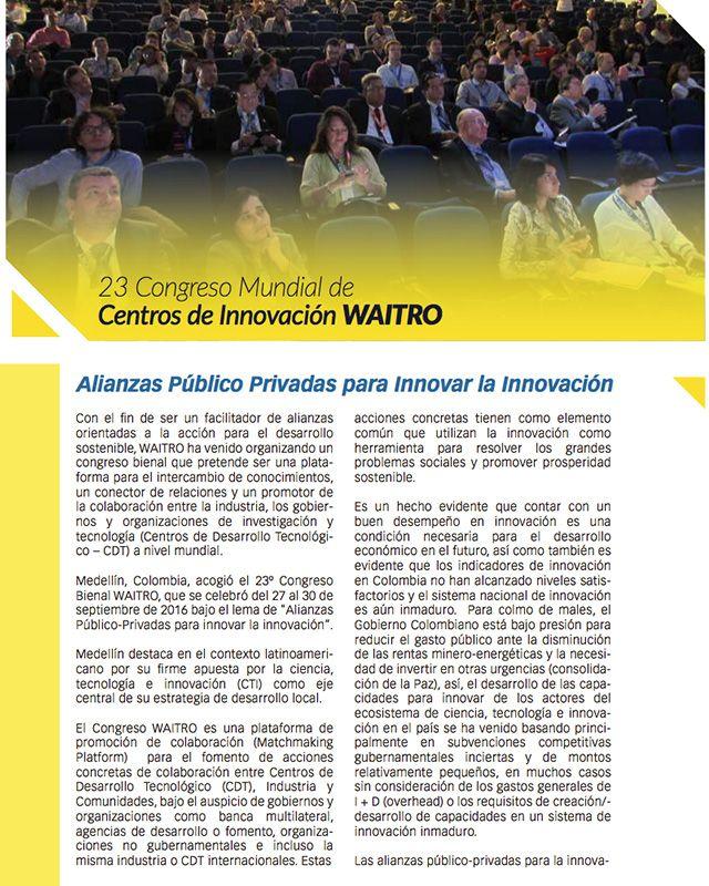 23 Congreso Mundial de Centros de Innovación WAITRO