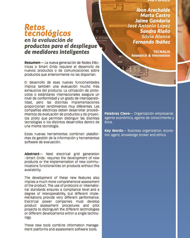 Retos tecnológicos en la evaluación de productos para el despliegue de medidores inteligentes