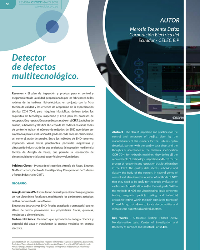 Detector de defectos multitecnológico