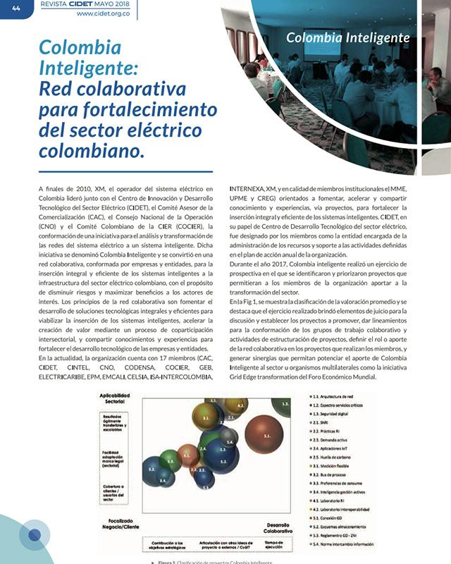 Colombia inteligente: Red colaborativa para fortalecimiento del sector eléctrico colombiano