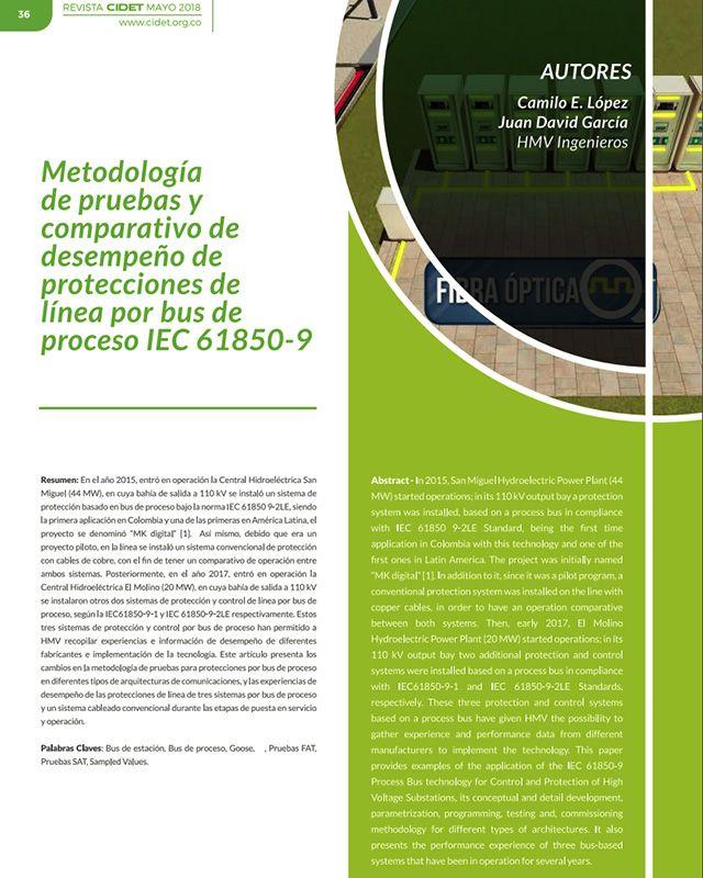 Metodología de pruebas y comparativo de desempeño de protecciones de línea por bus de proceso IEC 67850