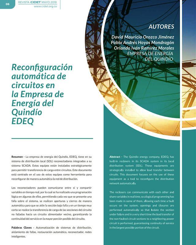 Reconfiguración automática de circuitos en la empresa de energía del Quindío