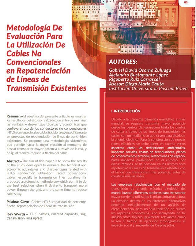 Metodología de evaluación para la utilización de cables no convencionales en repotenciación de líneas de transmisión existentes