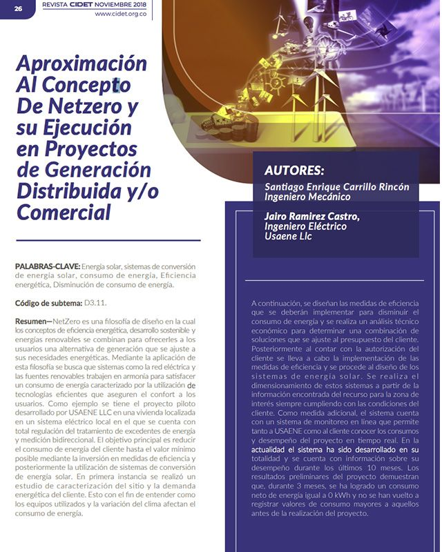 Aproximación al concepto de Netzero y su ejecución en proyectos de generación distribuida y/o comercial» está bloqueado Aproximación al concepto de Netzero y su ejecución en proyectos de generación distribuida y/o comercial