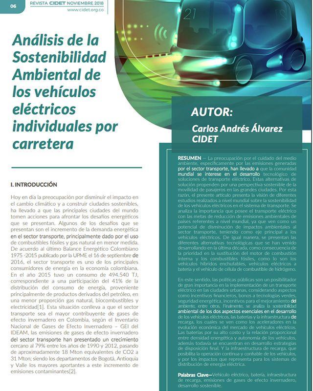 Análisis de la sostenibilidad ambiental de los vehículos eléctricos individuales por carretera
