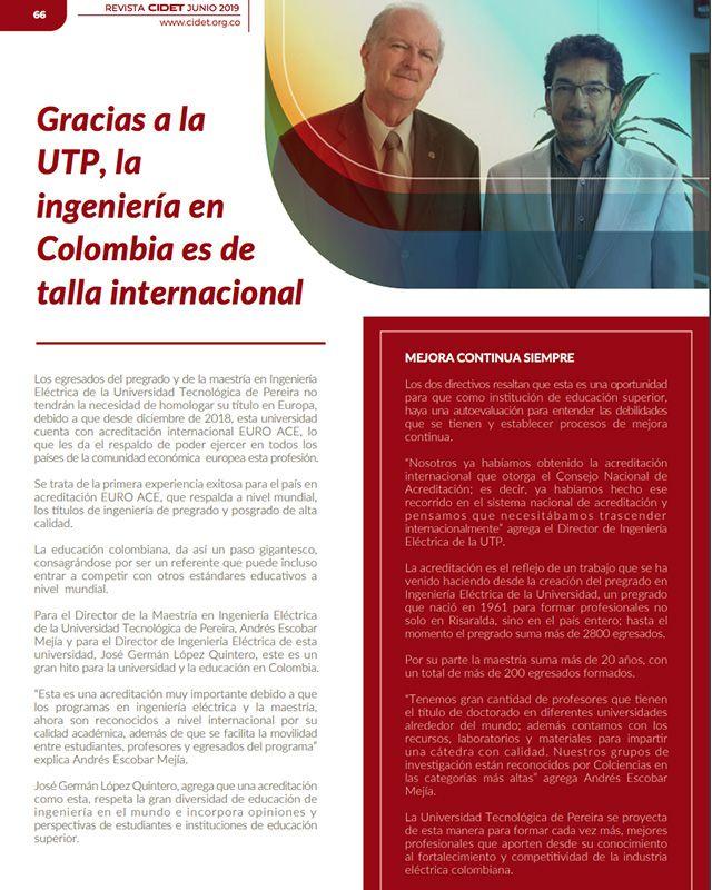 GRACIAS A LA UTP, LA INGENIERÍA EN COLOMBIA ES DE TALLA INTERNACIONAL
