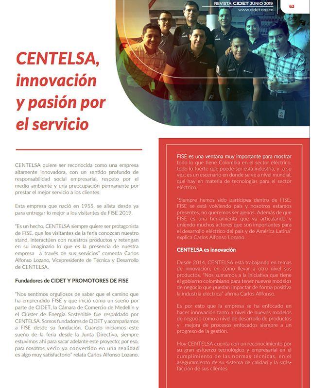 CENTELSA, INNOVACIÓN Y PASIÓN POR EL SERVICIO