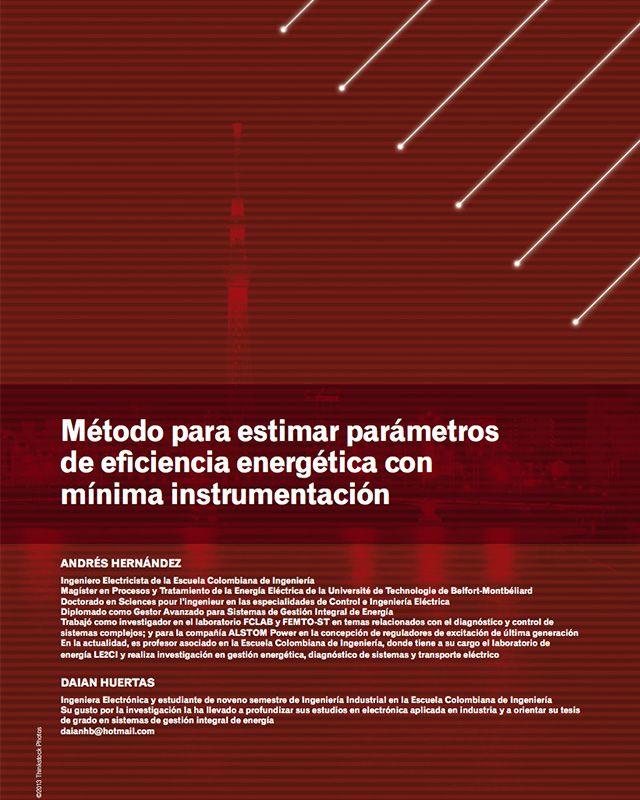 Método para estimar parámetros de eficiencia energética con mínima instrumentación