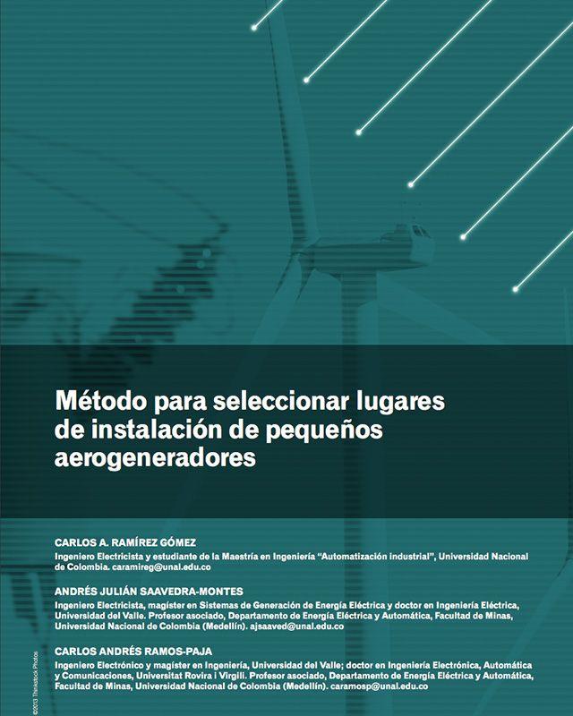 Método para seleccionar lugares de instalación de pequeños aerogeneradores