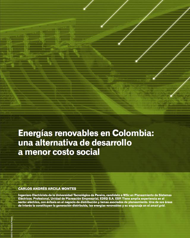 Energías renovables en Colombia: una alternativa de desarrollo a menor costo social