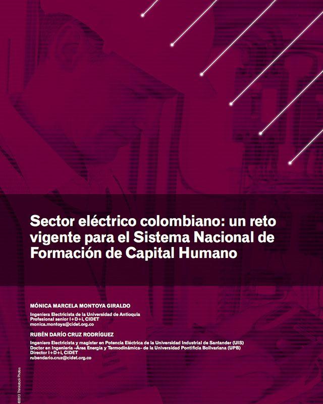 Sector eléctrico colombiano: un reto vigente para el Sistema Nacional de Formación de Capital Humano