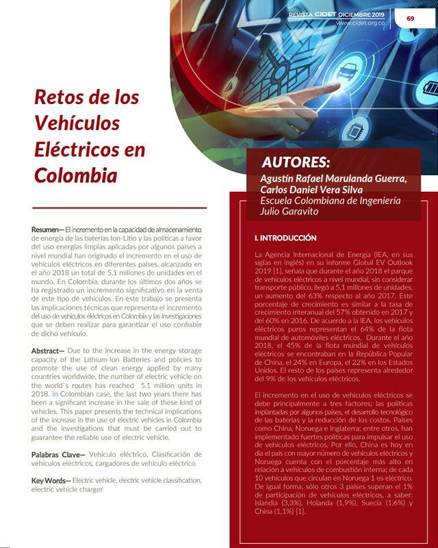 RETOS DE LOS VEHÍCULOS ELÉCTRICOS EN COLOMBIA