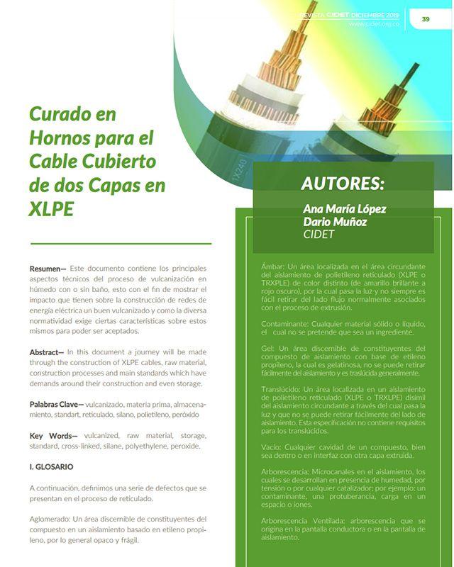 CURADO EN HORNOS PARA EL CABLE CUBIERTODE DOS CAPAS EN XLPE